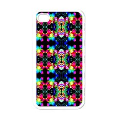Colorful Bright Seamless Flower Pattern Apple Iphone 4 Case (white) by Costasonlineshop