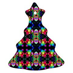 Colorful Bright Seamless Flower Pattern Christmas Tree Ornament (two Sides) by Costasonlineshop