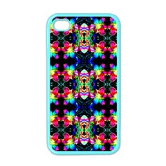 Colorful Bright Seamless Flower Pattern Apple Iphone 4 Case (color) by Costasonlineshop