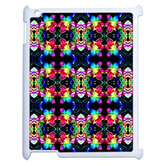 Colorful Bright Seamless Flower Pattern Apple Ipad 2 Case (white) by Costasonlineshop