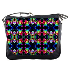 Colorful Bright Seamless Flower Pattern Messenger Bags by Costasonlineshop