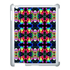 Colorful Bright Seamless Flower Pattern Apple Ipad 3/4 Case (white) by Costasonlineshop