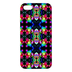 Colorful Bright Seamless Flower Pattern Apple Iphone 5 Premium Hardshell Case