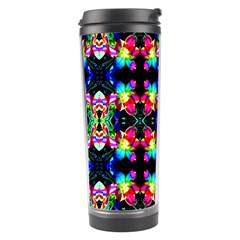 Colorful Bright Seamless Flower Pattern Travel Tumbler