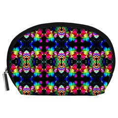 Colorful Bright Seamless Flower Pattern Accessory Pouches (large)  by Costasonlineshop