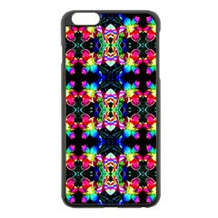 Colorful Bright Seamless Flower Pattern Apple Iphone 6 Plus/6s Plus Black Enamel Case by Costasonlineshop