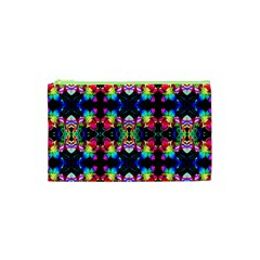 Colorful Bright Seamless Flower Pattern Cosmetic Bag (xs) by Costasonlineshop