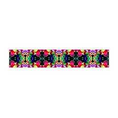 Colorful Bright Seamless Flower Pattern Flano Scarf (mini)