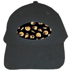 Shell Pattern Black Cap by Valentinaart
