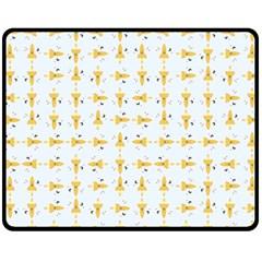 Spaceships Pattern Fleece Blanket (medium)  by linceazul