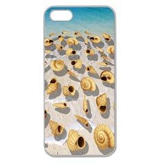 Shell Pattern Apple Seamless Iphone 5 Case (clear) by Valentinaart