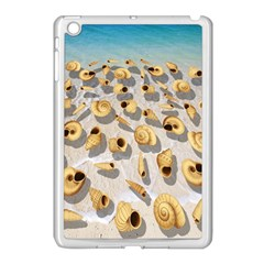 Shell Pattern Apple Ipad Mini Case (white) by Valentinaart