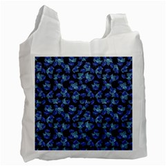 Autumn Leaves Motif Pattern Recycle Bag (one Side) by dflcprints