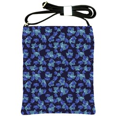 Autumn Leaves Motif Pattern Shoulder Sling Bags by dflcprints