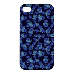 Autumn Leaves Motif Pattern Apple Iphone 4/4s Premium Hardshell Case by dflcprints