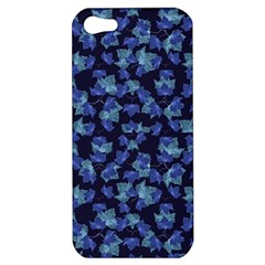 Autumn Leaves Motif Pattern Apple Iphone 5 Hardshell Case by dflcprints