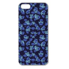 Autumn Leaves Motif Pattern Apple Seamless Iphone 5 Case (clear) by dflcprints