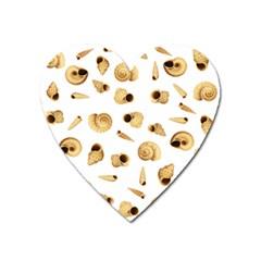 Shell Pattern Heart Magnet by Valentinaart