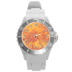 Colors Round Plastic Sport Watch (l) by Valentinaart
