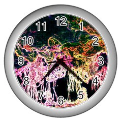 Colors Wall Clocks (silver)  by Valentinaart