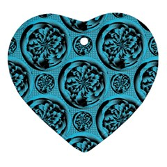 Turquoise Pattern Ornament (heart) by linceazul