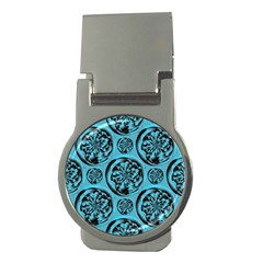 Turquoise Pattern Money Clips (round)  by linceazul