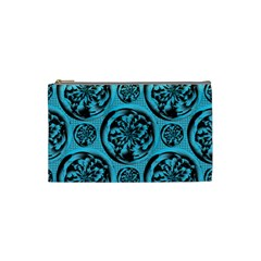 Turquoise Pattern Cosmetic Bag (small)  by linceazul
