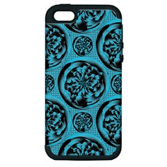 Turquoise Pattern Apple Iphone 5 Hardshell Case (pc+silicone) by linceazul
