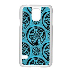 Turquoise Pattern Samsung Galaxy S5 Case (white) by linceazul