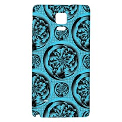 Turquoise Pattern Galaxy Note 4 Back Case by linceazul
