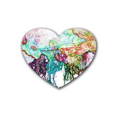 Colors Rubber Coaster (heart)  by Valentinaart