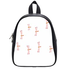 Animal Dragonfly Fly Pink School Bags (small)  by Mariart