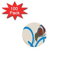 Butterfly 1  Mini Buttons (100 Pack)  by Mariart