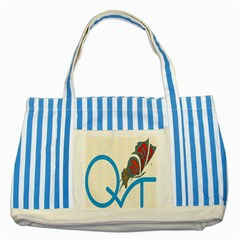 Butterfly Striped Blue Tote Bag by Mariart