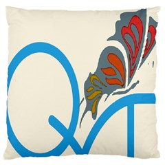 Butterfly Large Cushion Case (two Sides) by Mariart