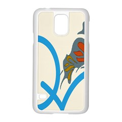 Butterfly Samsung Galaxy S5 Case (white) by Mariart