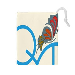 Butterfly Drawstring Pouches (large)  by Mariart
