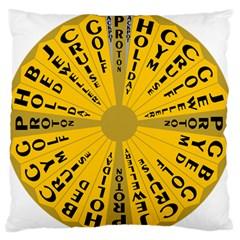 Wheel Of Fortune Australia Episode Bonus Game Large Flano Cushion Case (Two Sides)