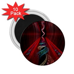 Artistic Blue Gold Red 2 25  Magnets (10 Pack)  by Mariart