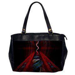 Artistic Blue Gold Red Office Handbags by Mariart