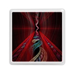 Artistic Blue Gold Red Memory Card Reader (square)  by Mariart