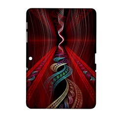 Artistic Blue Gold Red Samsung Galaxy Tab 2 (10 1 ) P5100 Hardshell Case