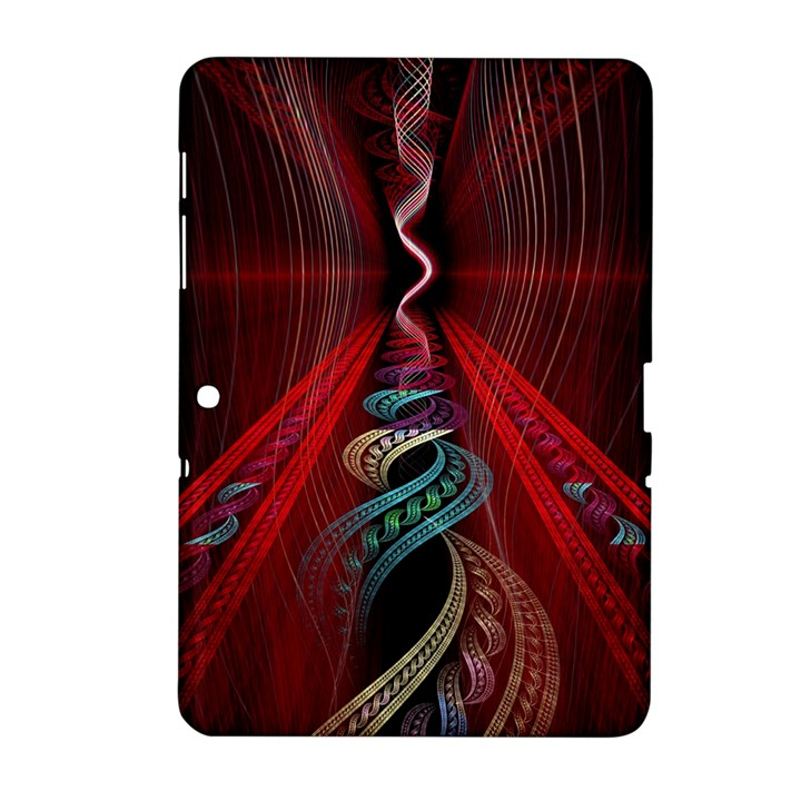 Artistic Blue Gold Red Samsung Galaxy Tab 2 (10.1 ) P5100 Hardshell Case