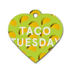 Bread Taco Tuesday Dog Tag Heart (one Side) by Mariart