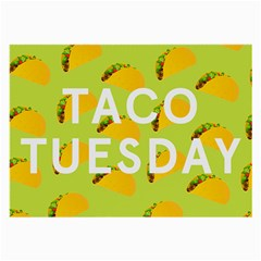 Bread Taco Tuesday Large Glasses Cloth (2 Side) by Mariart
