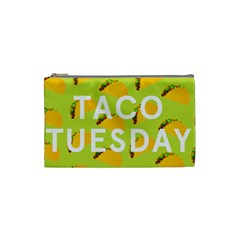 Bread Taco Tuesday Cosmetic Bag (small)  by Mariart