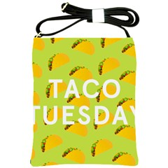 Bread Taco Tuesday Shoulder Sling Bags by Mariart