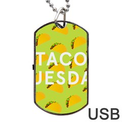 Bread Taco Tuesday Dog Tag Usb Flash (one Side) by Mariart