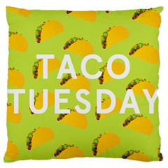 Bread Taco Tuesday Large Cushion Case (two Sides) by Mariart