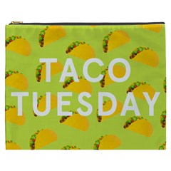 Bread Taco Tuesday Cosmetic Bag (xxxl)  by Mariart